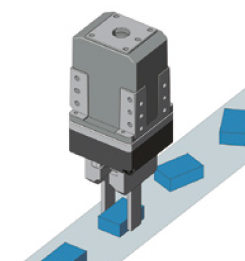 Using a gripper to align a part