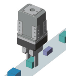Using a gripper to measure a part