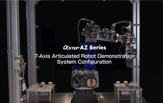 Robotic arm demo with absolutes stepper motors and actuator