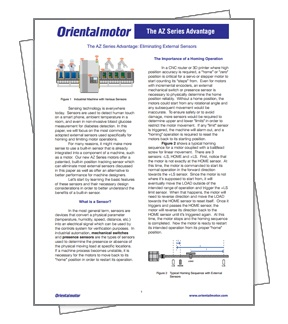 Whitepaper On Eliminating External Sensors by Oriental Motor